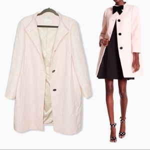 Kate Spade New York Pink Tweed Woven Trench Coat